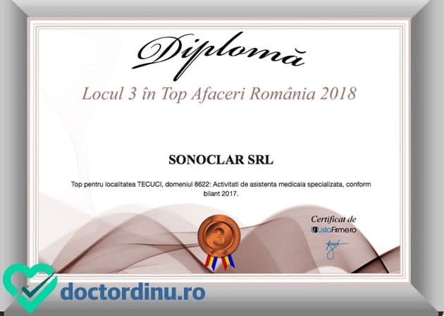 Diploma Lista firme_Doctor Dinu Constantin_ Sonoclar srl